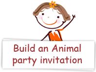 Download Build an Animal party invitations