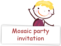 Download mosaic making party invitations