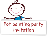Download pot painting party invitations