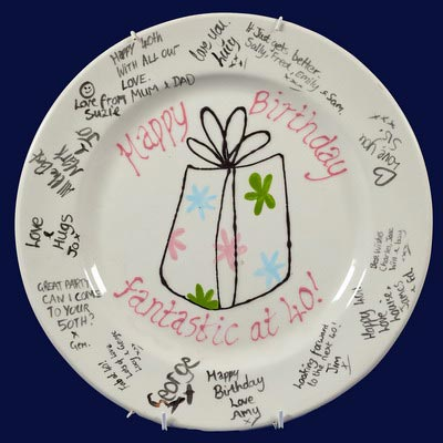 Painted birthday plate
