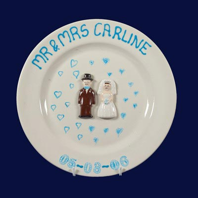 Painted wedding plate