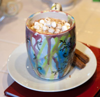 Our special hot chocolate